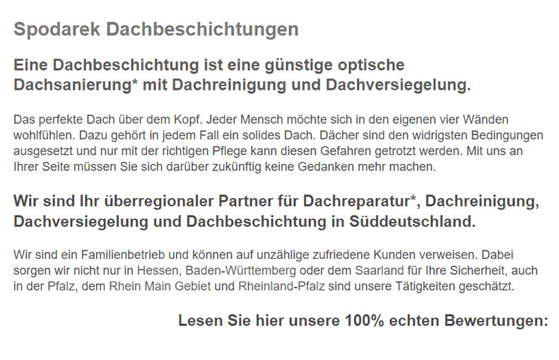 Dachbeschichtungen für 71638 Ludwigsburg, Möglingen, Tamm, Remseck (Neckar), Benningen (Neckar), Marbach (Neckar), Bietigheim-Bissingen oder Kornwestheim, Asperg, Freiberg (Neckar)
